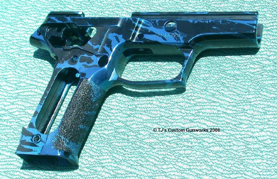 Blue & Black Marbled Sig P226 Frame