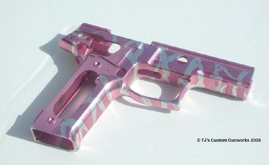 Pink & Silver Striped Sig P226 Frame